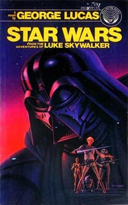 """Original novel, """"Star Wars"""" published 1976, six months before the film release.  Ghost-written by Alan Dean Foster.  Cover art by Ralph McQuarrie."""