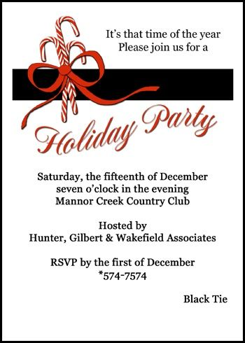 59 best Business Holiday Christmas Invitations images on Pinterest - office bridal shower invitation wording