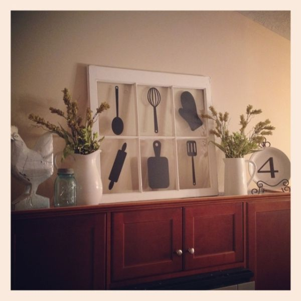 decor above kitchen cabinets the silhouettes but on canvas by floney