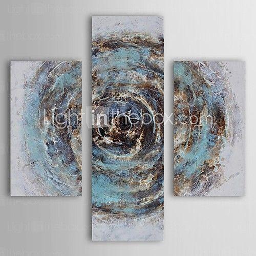 Handgeschilderde Abstract Drie panelen Canvas Hang-geschilderd olieverfschilderij For Huisdecoratie - EUR €105.83