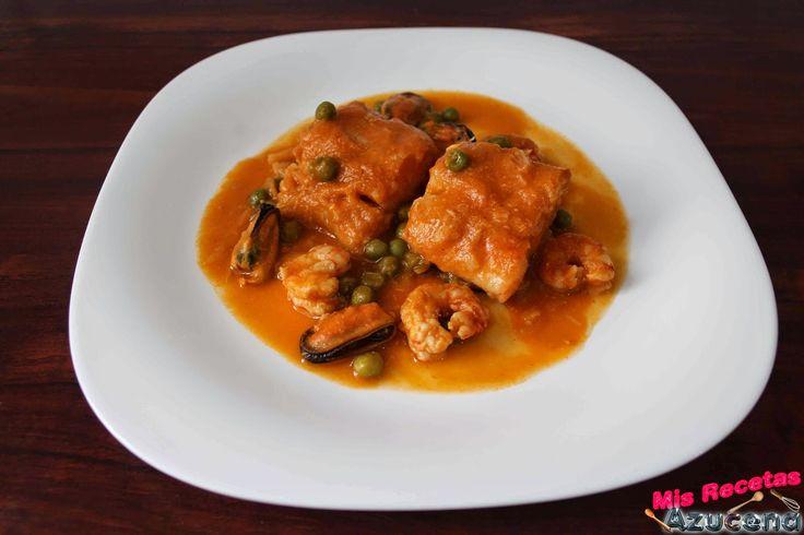 Mis recetas bacalao con gambas y mejillones recetas con pescado pinterest recetas - Bacalao guisado con patatas ...