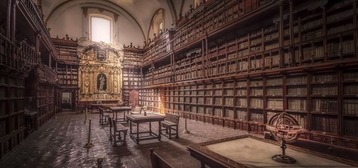 Biblioteca Palafoxiana - The Biblioteca Palafoxiana in Puebla, Mexico, was the first public library in colonial Mexico founded by the bishop Juan de Palafox y Mendoza. The library is by some sources mentioned as the first in all of the Americas. Juan de Palafox y Mendoza was very fond of books and the library contains more than 40000 pieces.