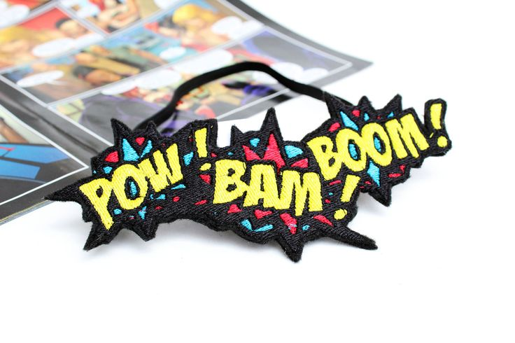 Superhero Headband - Womens Headband - Nerd Gifts - Super Hero - Pop Art Clothing - Superhero Birthday - Gifts For Geeks - Comic Book Art by KawaiiHairCandy on Etsy