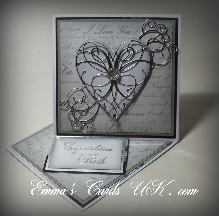 memory box dies heart card samples - Google Search, La rue heart and elegant scroll work, perfect match!