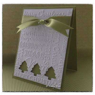 CAS card, Christmas card, Stampin Up http://www.hobbycraft.co.uk/papercraft/christmas-papercraft