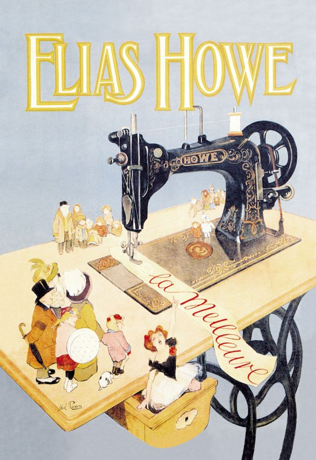 Vintage Sewing Machines and Quilting History: Elias Howe Sewing Machine, about 1900