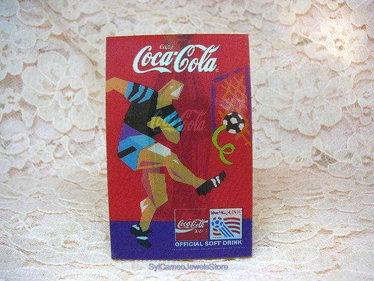 Vintage Coca Cola Soccer FIFA World Cup USA Holographic, 3-D Pin, Collectible Souvenir - SylCameoJewelsStore on Etsy