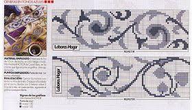♥Meus Gráficos De Ponto Cruz♥: Barras Geométricas em Ponto Cruz