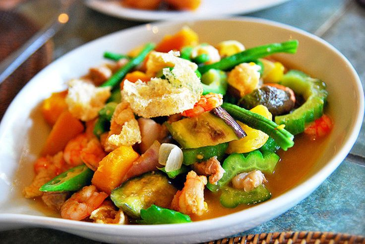"""This pinakbet recipe is also aptly called """"Pakbet"""". This is a medley of vegetables that are locally grown in the Filipinos' backyard with bagoong or alamang"""