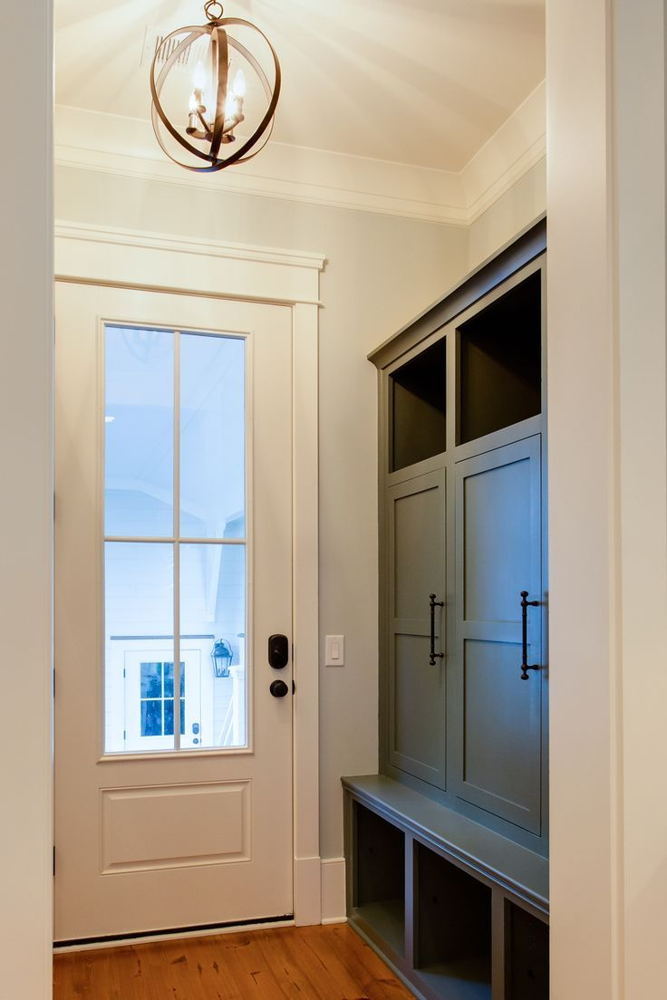 Mudroom doors billy bookcases from ikea mirrored doors for Exterior back doors for home