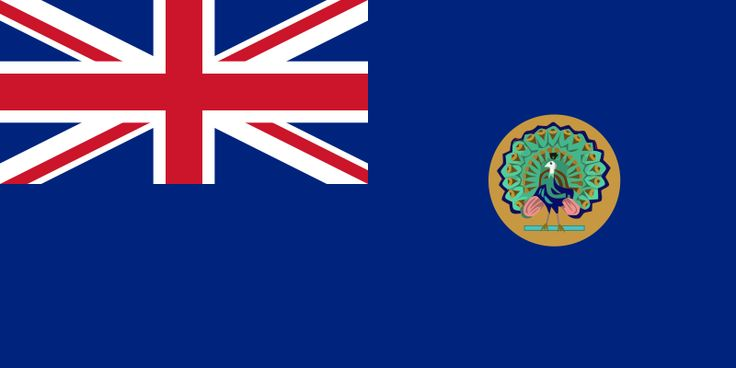 Flag of British Burma as a colony of British India (1824-1939) Flag of British Burma, as a separate colony (1939-1943, 1945-1948).