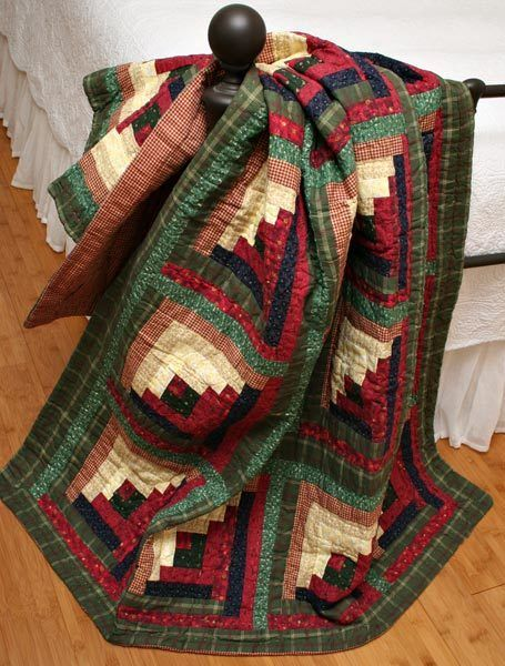 blanket quilt stain throw throws log lap lodge patchwork cabin tea cotton