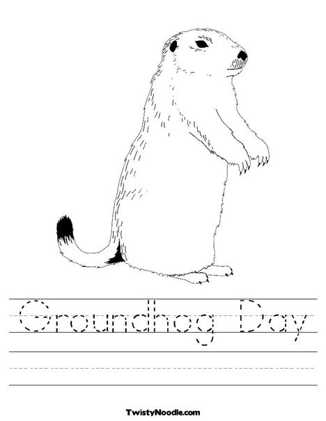 new groundhog day coloring page from twistynoodlecom