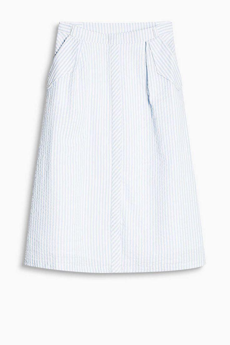 edc - Falda de sirsaca, 100% algodón en la Online-Shop
