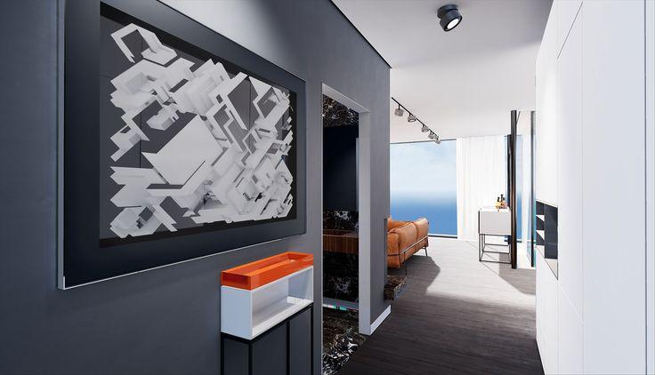 ArchViz for Virtual Reality – Floor Penthouse Munich | Architekturvisualisierung für Virtual Reality – Flur Penthouse München | raumdichter