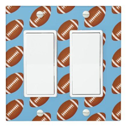 Sports Football Light Switch Cover - kids kid child gift idea diy personalize design
