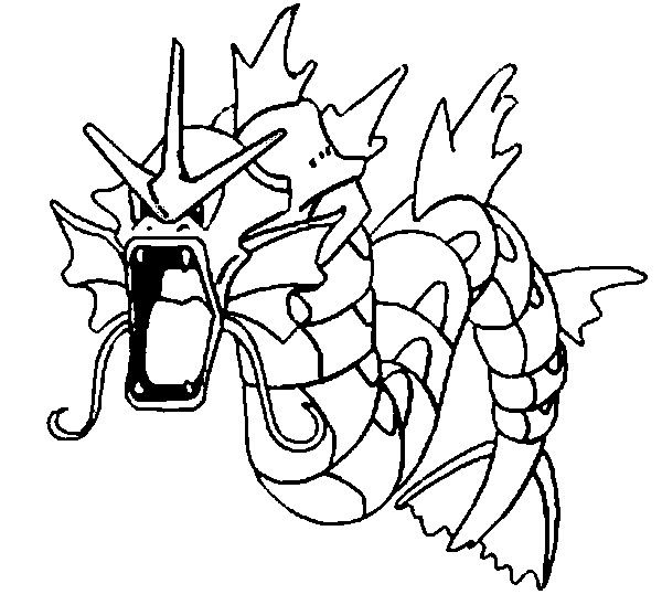 Gyarados Pokemon Gyarados Coloring Pages Star Coloring Pages