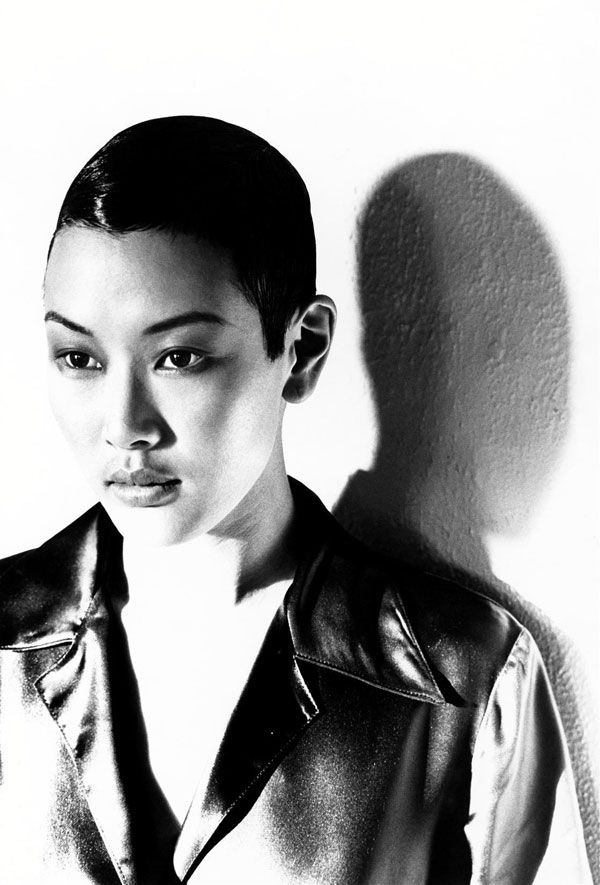 androgynous model Jenny Shimizu ~ #androgynous #androgyny #model #jennyshimizu #fashion #blackandwhite #lesbian #Asian #LGBTQ #icon #iconoclast #beautiful #portrait