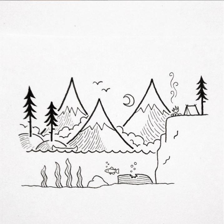Simple art drawing ideas