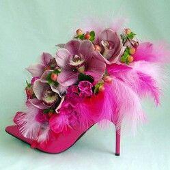 Shoe as a vase