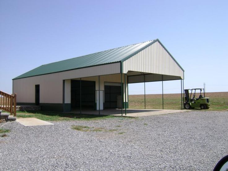 8 best plans images on pinterest metal buildings barn for Carport barn plans