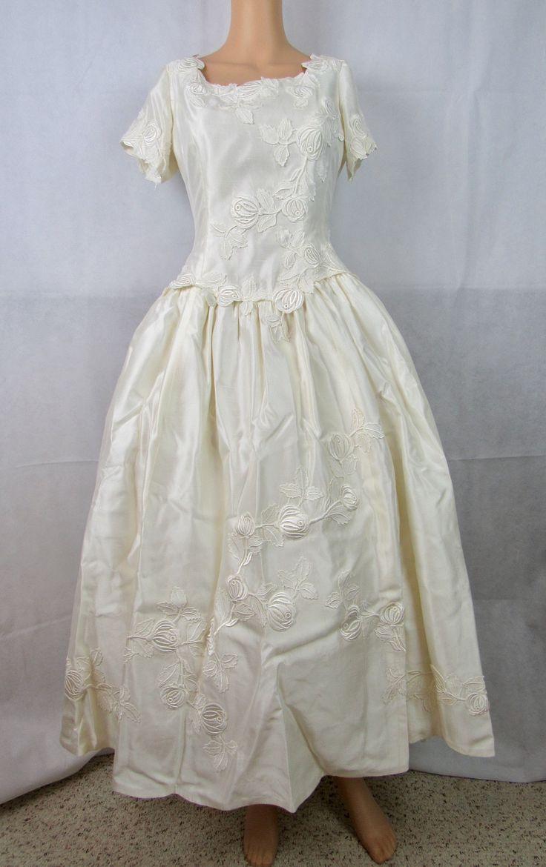 vintage wedding gown tea length wedding gown audrey