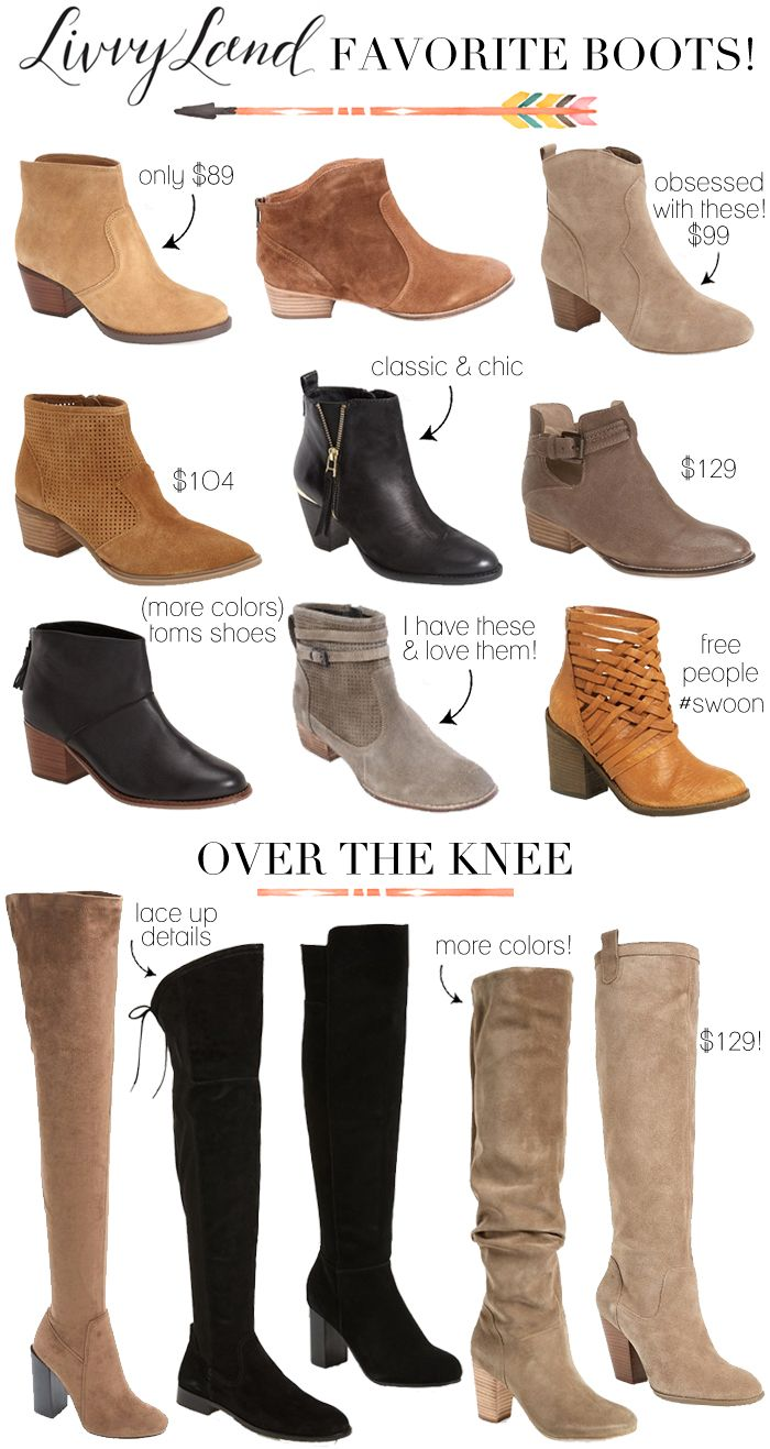 Boots Roundup: Ankle Booties & Over The Knee Boots | LivvyLand