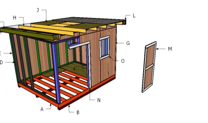 Flat Roof Plans For A 10x12 Shed Howtospecialist How To Build Step By Step Diy Plans In 2020 Diy Plans Shed Plans Flat Roof Shed