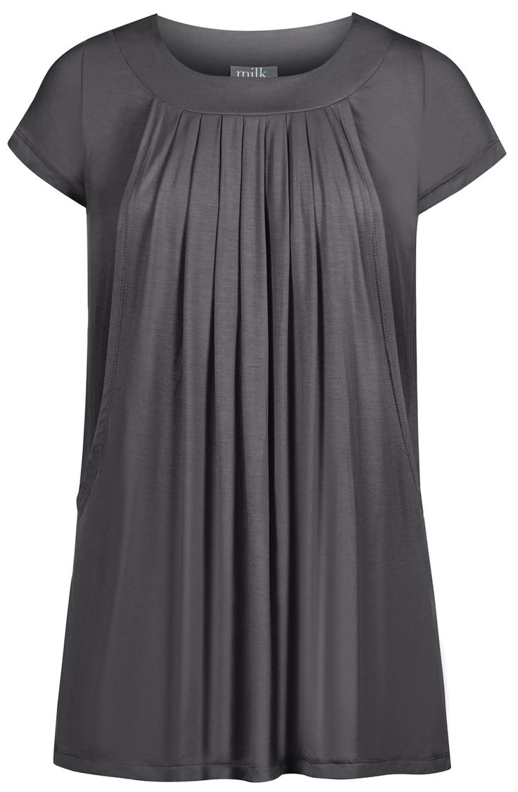Milk Nursingwear - Pleated flowy nursing top, $36.00 (https://www.milknursingwear.com/pleated-flowy-nursing-top/)