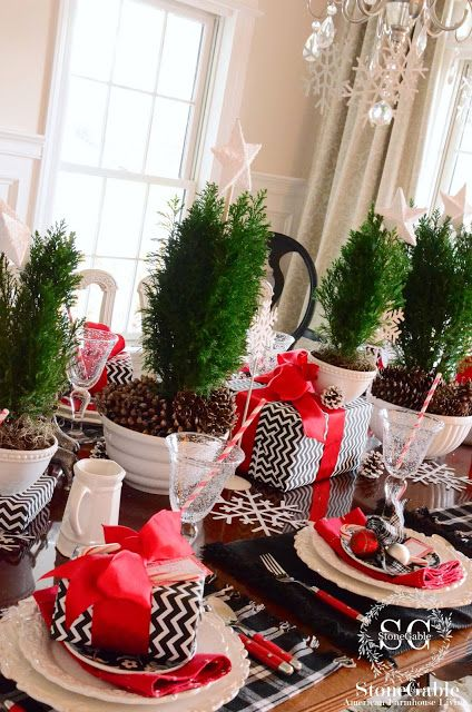 Christmas Brunch Tablescape Brunch Red Christmas And