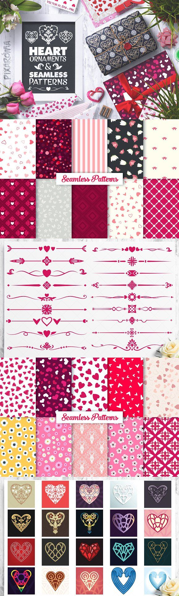 Elegant royal frame with crown vector colourbox - Heart Vector Ornaments And Patterns