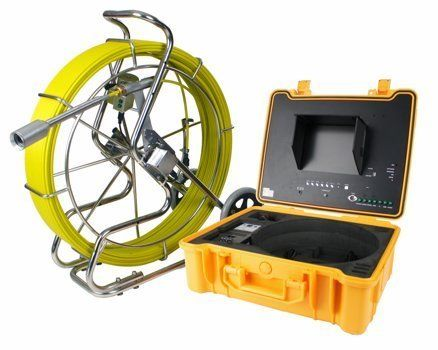 """300 ft Sewer Pipe Wall Snake Video Camera System DVR w/ Built in Transmitter by Steel Dragon Tools. $3399.99. Specifications:Detachable Camera Head 512 Hz Transmitter built inside camera head 10"""" TFT Color Monitor in an ABS Waterproof Case with a built-in DVD Recorder 2"""" Sharp CCD Waterproof Color and Self-leveling Camera with18 LED Head Lights Easy to use DVR Software. Internal Mic to speak notes while Recording Sapphire Glass Lens Cover Camera Vision Angle : ..."""