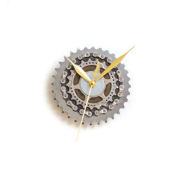 modern wall clock industrial wall clock steampunk wall clock bicycle wall clock