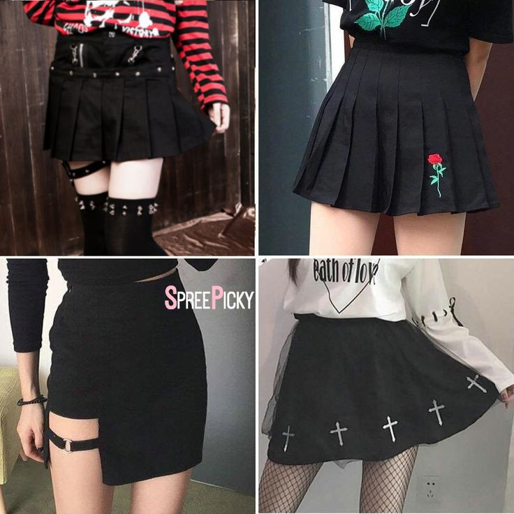 "5,139 Beğenme, 37 Yorum - Instagram'da Spree Picky (@spreepicky): ""All Black! Voting time.Which one do you prefer? Plaid Garter Skirt 😻 #SP178831 Rose Embroidery…"""