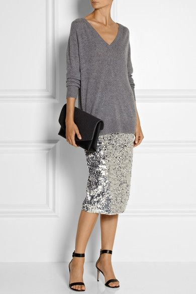 Malene Birger Poliio Sequined Pencil Skirt | net-a-porter.com .. {but really the whole outfit is insane}
