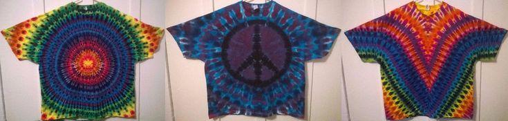 New Tie Dye 3XL Short Sleeve T-shirts 100% Cotton Gildan or Alstyle  Multi-color #Handmade #Hippy #tourhead