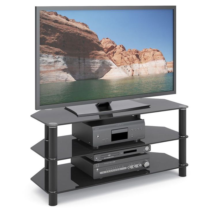 The 25+ best Black glass tv stand ideas on Pinterest | Glass tv ...