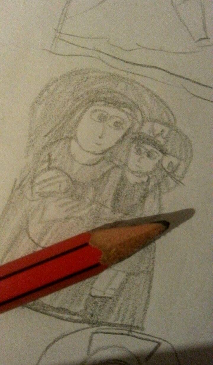 Icoane in creion Icons on pencil.