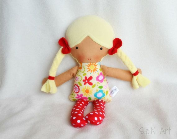First Doll First Baby Doll Soft Doll Rag Doll Baby doll by SenArt1