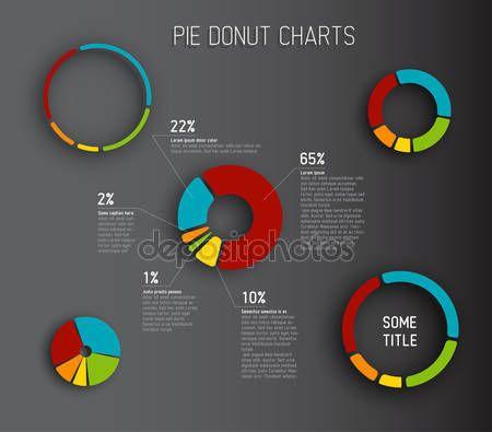 Modelli di grafico a torta ciambella — Vettoriali  Stock © orson #48503815