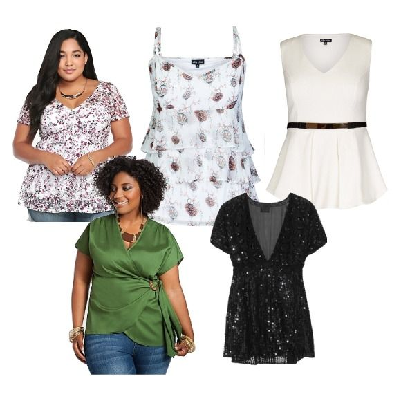 Here are some examples of women's Tops  for those conscious about their  big Tummies