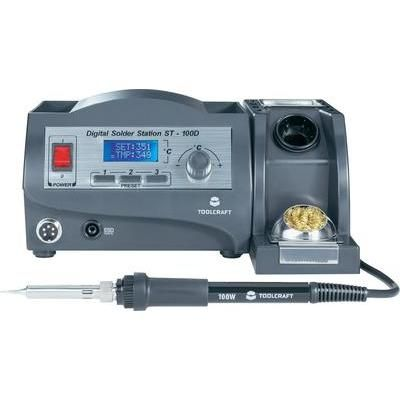 Soldering station digital 100 W TOOLCRAFT ST-100D +150 up to