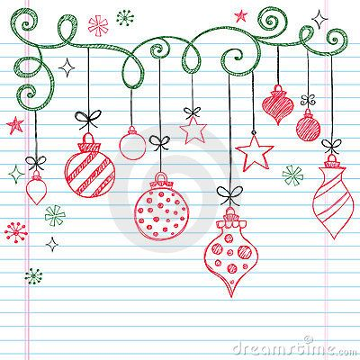 Hand-Drawn Sketchy Doodle Christmas Ornament by Blue67, via Dreamstime