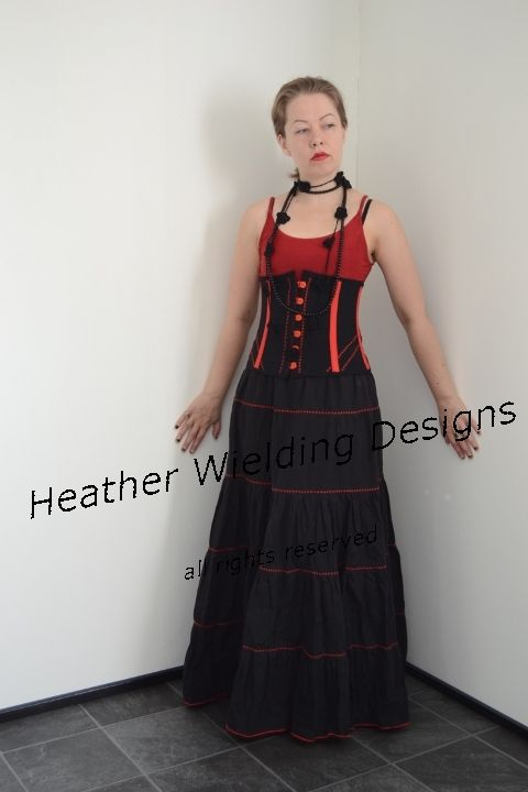Embroidered waist corselet - Sewing pattern by Heather Wielding Designs  http://heatherwielding.com/product/embroidered-corselet/