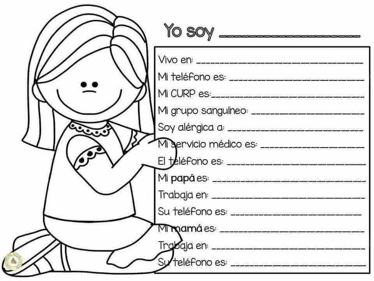 Ficha de datos niñas