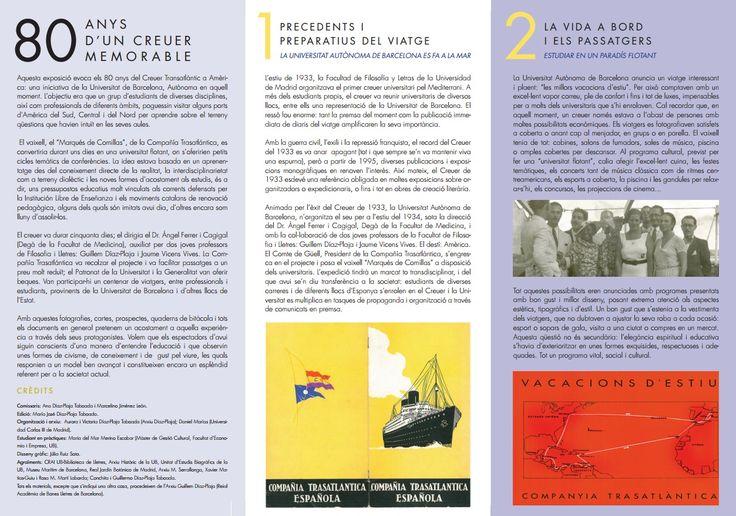 Febrer 2015 - Tríptic - CRAI Biblioteca de Lletres - Exposició virtual: Creuer Transatlàntic Universitari del 1934 (2)