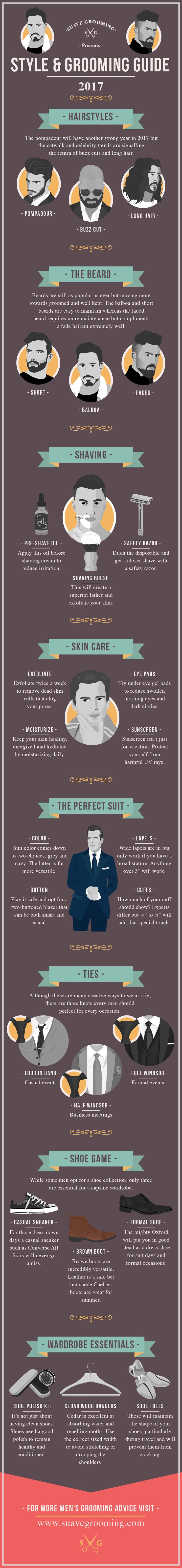 Style And Grooming Guide 2017 #Infographic #StyleAndGrooming