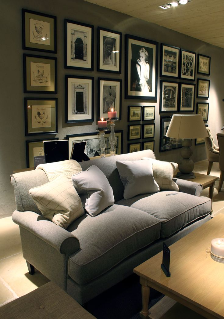 The gallery wall and George sofa in the new Neptune Showroom at Browsers Furniture Co. Limerick, Ireland