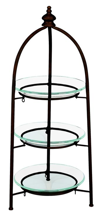 Metal glass 3 tier stand excellent storage stand
