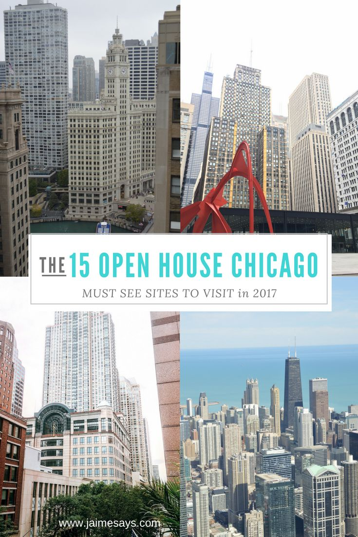 15 Must-See Sites for Open House Chicago, happening October 14-15, 2017. A completely #free event in #Chicago #illinois #OHC